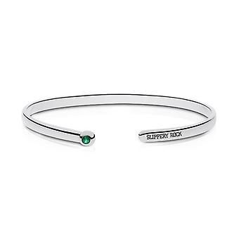 Slippery Rock University Emerald Cuff Bracelet In Sterling Silver Design by BIXLER