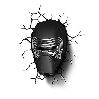 Star Wars Kylo ren 3D LED væg lys