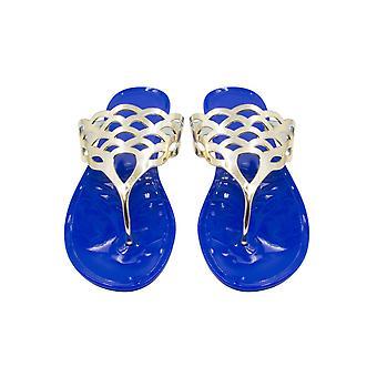 Sara Z hyvät hyytelö Thong sandaali metallinen lovea ylempi