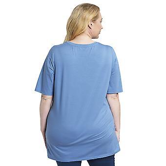 Rösch 1194535-11998 Women's Curve Smokey Blue Pyjama Top