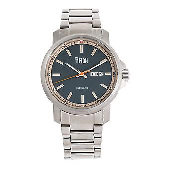 Reign Helios automatische Armband uhr w/Tag/Datum - Silber/Grau