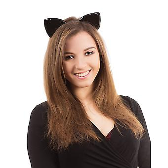 Bristol Novelty Adults Unisex Shiny Cat Ears