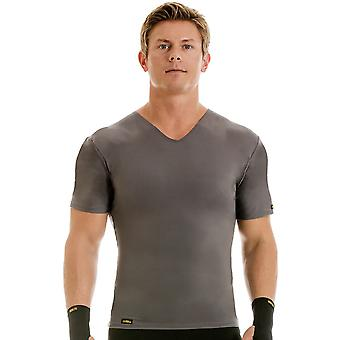 Insta Slim Pro Active Wear V-Neck Compression Slimming Under Shirt - Forza Gray