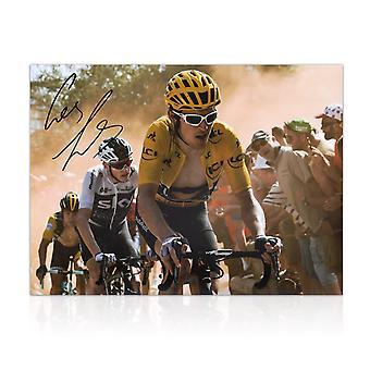 Geraint Thomas signiertes Tour De France Photo: Niederländische Ecke