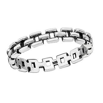 Chain - 925 Sterling Silver Plain Rings - W30403X
