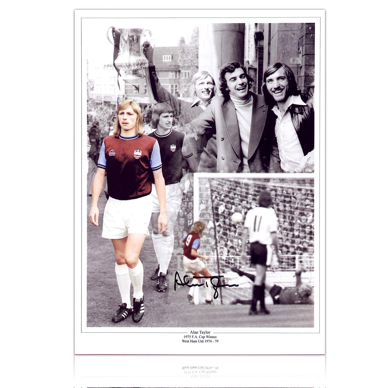 Alan Taylor Signed West Ham United Photograph: 1975 FA Cup Hero