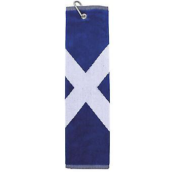 Saltire Golf handduk med klämma för golfbag Attachment