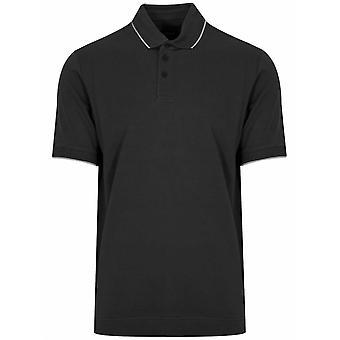 Z Zegna Black Short Sleeved Polo Shirt