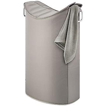 Laundry collector aluminum combined with synthetic fiber, taupe