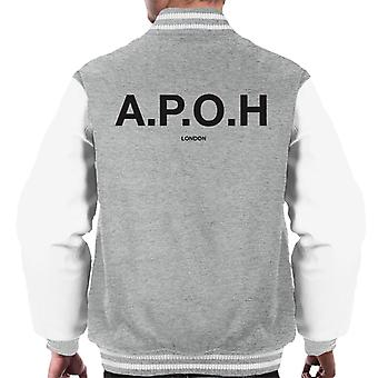 A.P.O.H Classic Black Logo Men's Varsity Jacket