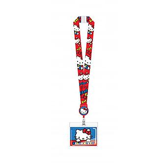 Lanyard - Hello Kitty w/Zip Lock Card Holder New 78021