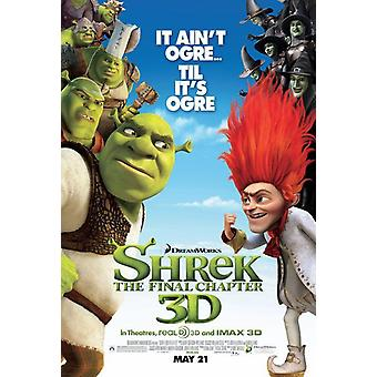 Shrek Forever After Poster - Shrek 4 (Mike Myers, Cameron Diaz, Eddie Murphy) Double Sided Regular Us One Sheet (2010) Original Cinema Poster
