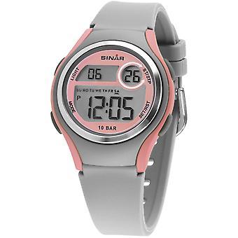 SINAR ifjúsági Watch wristwatch digitális kvarc lány szilikon szalag XE-64-9 Grey Pink