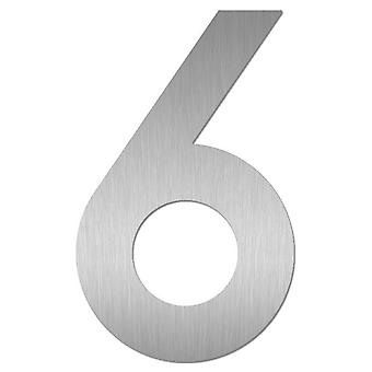 Nathan house number MIDI 6 stainless steel 64476-072