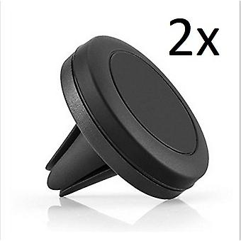 Magnetic Mount 2 Pack - Universal Air Vent Magnetic Car Mount Phone Holder for Cell Phones and Mini Tablets