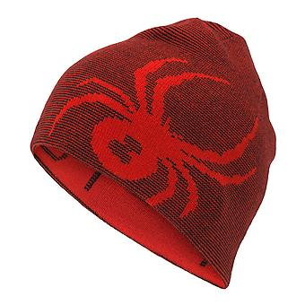 Spyder REVERSIBLE BUG Kids Ski Hat - Rouge