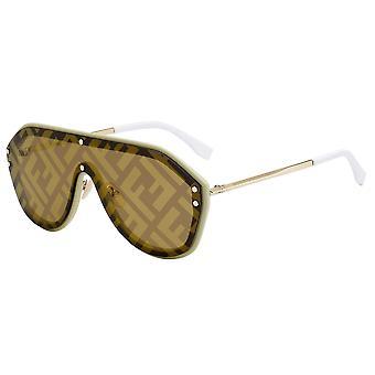 Fendi Fabulous FF M0039/G/S 10A/7Y Beige/Gold Decor Sunglasses