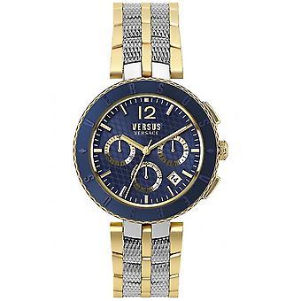 مقابل فيرساتشي VSP762518 الرجال & s شعار كرونوغراف ساعة اليد