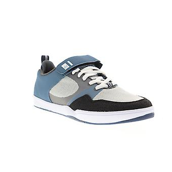 ES Accel Plus Ever Stitch Mens Blue Canvas Skate Inspired Sneakers Shoes
