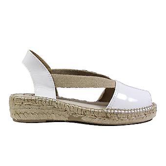 Toni Pons Evon-XA White Patent Leather Womens Pull On Espadrille Sandals
