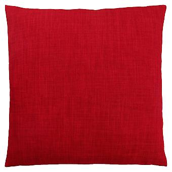 """18"""" x 18"""" Red, Linen Patterned - Pillow"""