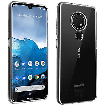 Kit para Nokia 6.2 & 7.2 Silicone Gel Case & Tempered Glass Film- Muvit, Clear