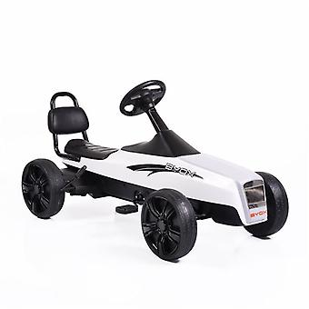 Kids Gokart Happy Baby K01, pedal car, PVC tyres, from 5 years, up to 50 kg white