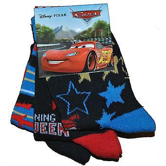Disney Cars sokken 3-pack-zwart/blauw