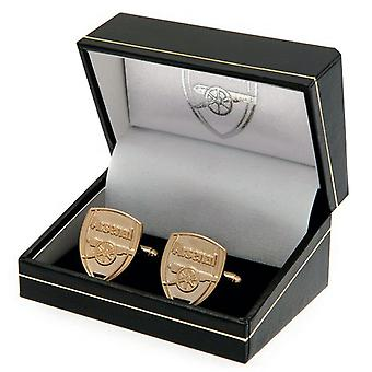 Arsenal FC Gold Plated Cuff-Links