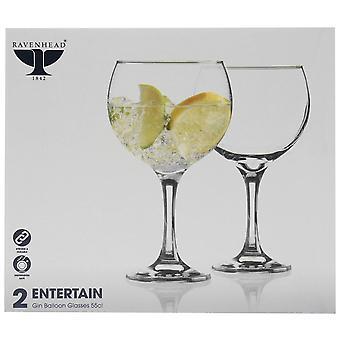Ravenhead Unisex Gin Ballon Gläser 2 Pack