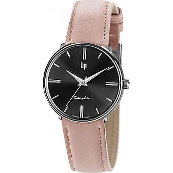 Watch LIP 671924 - Dauphine leather Rose Pale woman