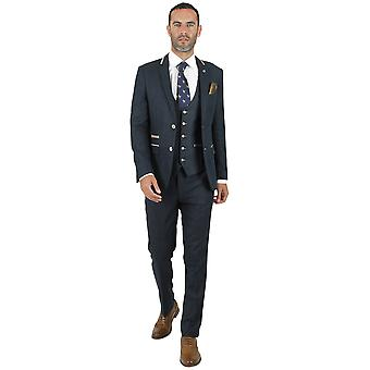 Marc Darcy Glen Blue Tweed Suit Jas