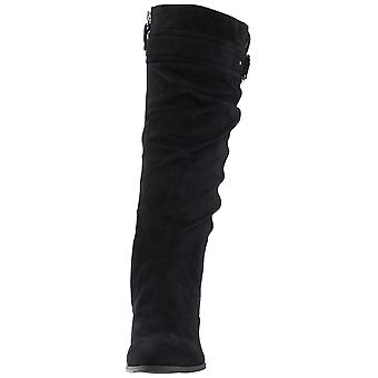 Dr. Scholl's Shoes Womens F2609S1 Suede Closed Toe Knee High Fashion Boots