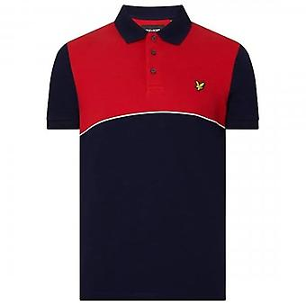 Lyle & Scott Yoke Stripe Polo Shirt Red SP1215V