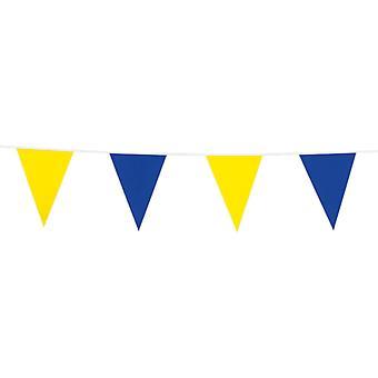 Flaggirlang - France Vimpelgirlang - France Pennant 10 mètres jaune et bleu