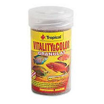 Tropical Vitality &Amp  Color 100 Ml Granulated (Fish , Food , Warm Water)