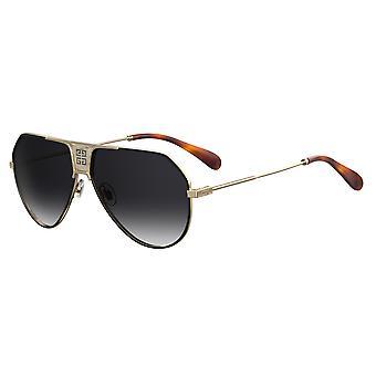 Givenchy GV7137/S 2M2/9O Schwarz-Gold/Dunkelgrau Farbverlauf Sonnenbrille