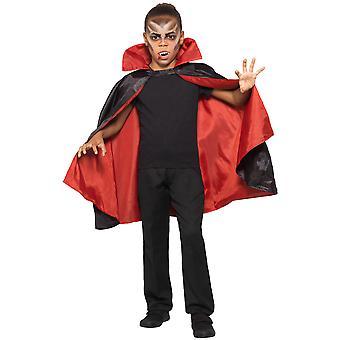 Dzieci Vampire Cloak Dwustronny Karnawał Halloween Kostium Akcesoria Odwracalne Vampire Cape Child