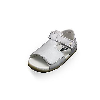 Bobux step up mirror sliver shimmer sandals