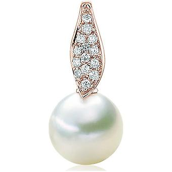 Luna-Pearls Bead Pendant Brilliant 016ct 750 RG South Sea Breeding Pearl 11-11.5mm