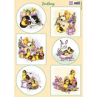 ماريان تصميم Decoupage أوراق Ducklings VK9587 A4 (03-20)