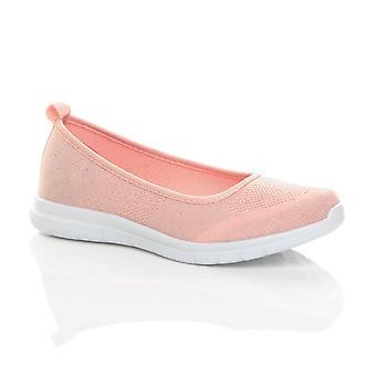 Ajvani womens slip on lightweight gym shoes memory foam ballet flats pumps trainers