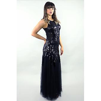 Mesh sequin gown