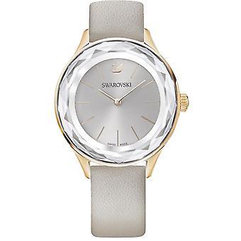 Zegarek 5295326 Swarovski - kryształy skórzana szara Kobieta