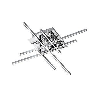Wofi Orbit - Dimmable LED 8 Light Flush Ceiling Light Chrome - 9946.08.01.0000