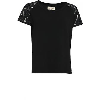 A Postcard from Brighton Black Lace Detailed Top