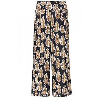 Masai Clothing Pusna Leaf Print Trousers