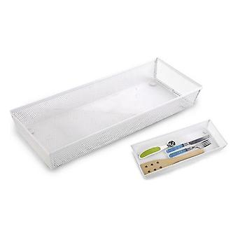 Drawer organiser Confortime Metal White/38 x 15,24 x 5,2 cm