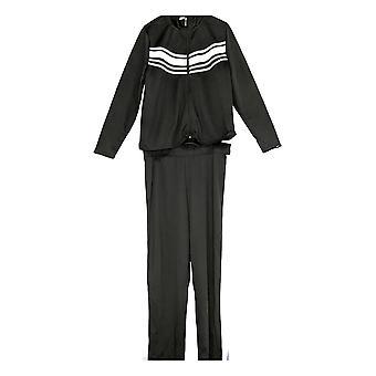 K Jordan Women's Plus Long Slv Jacket & Track Striped Pants 2 Piece Set