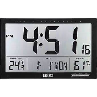 Eurochron EFWU Jumbo 100 Radio Wall clock 370 mm x 230 mm x 30 mm Black